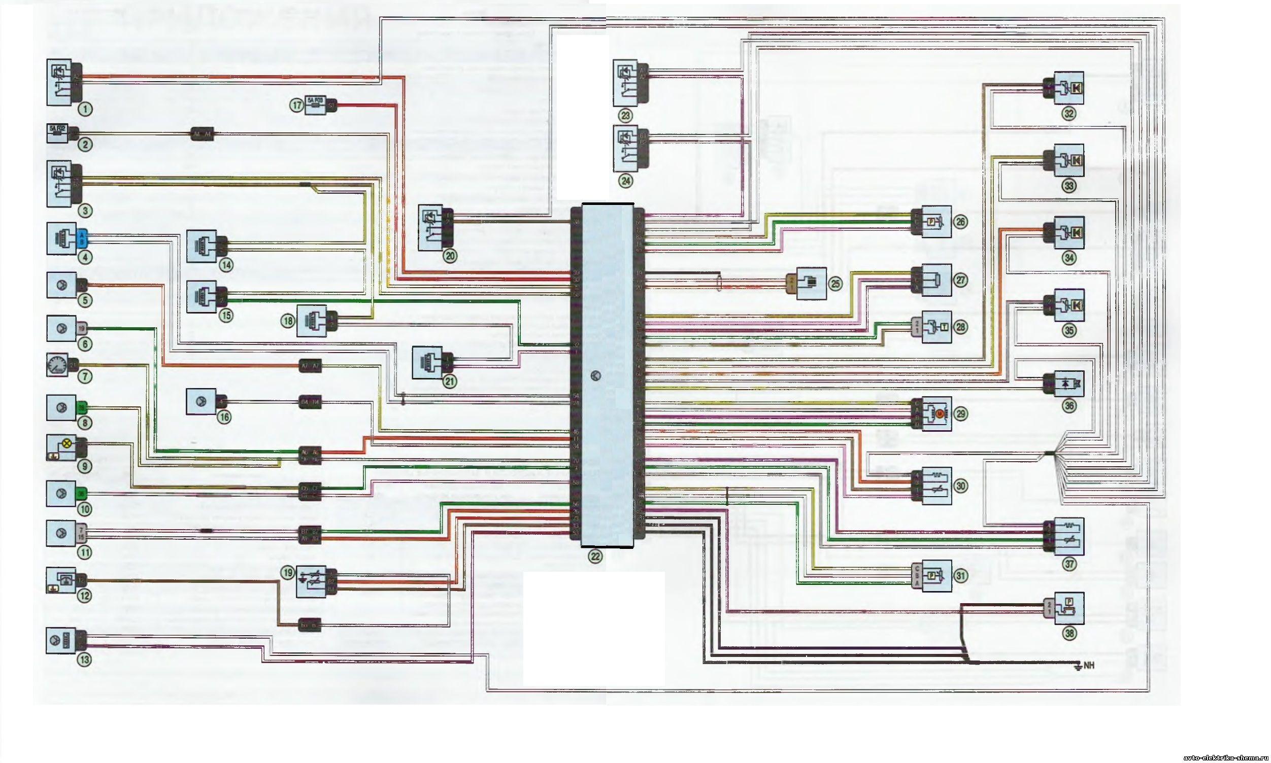 s1 - Схема центрального замка ларгус