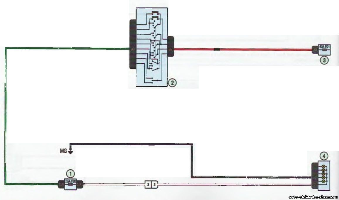 s10 - Схема центрального замка ларгус