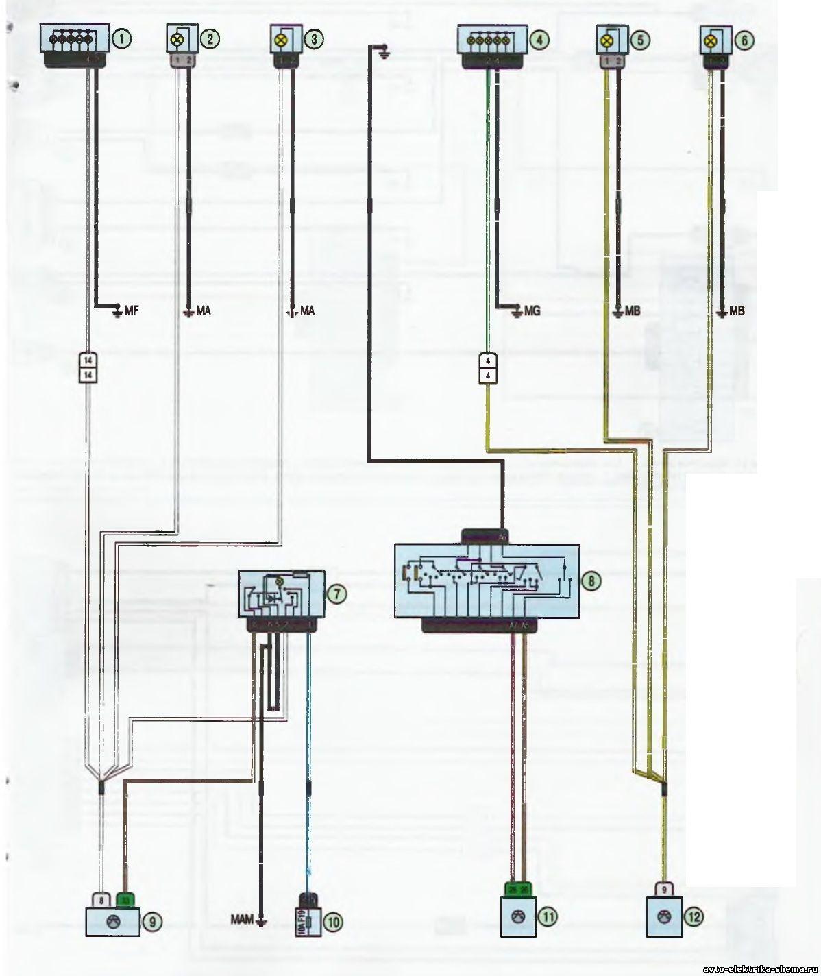 s11 - Схема центрального замка ларгус
