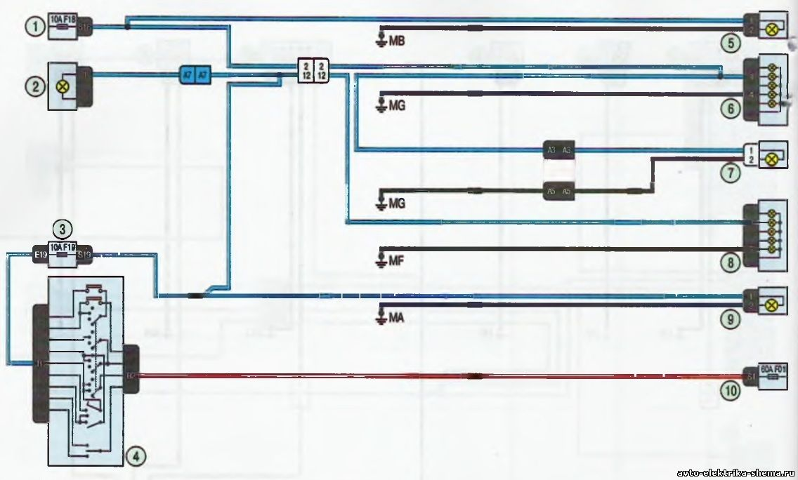s12 - Схема центрального замка ларгус