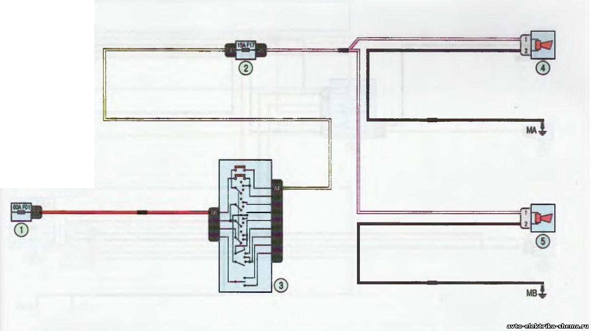 s14 - Схема центрального замка ларгус