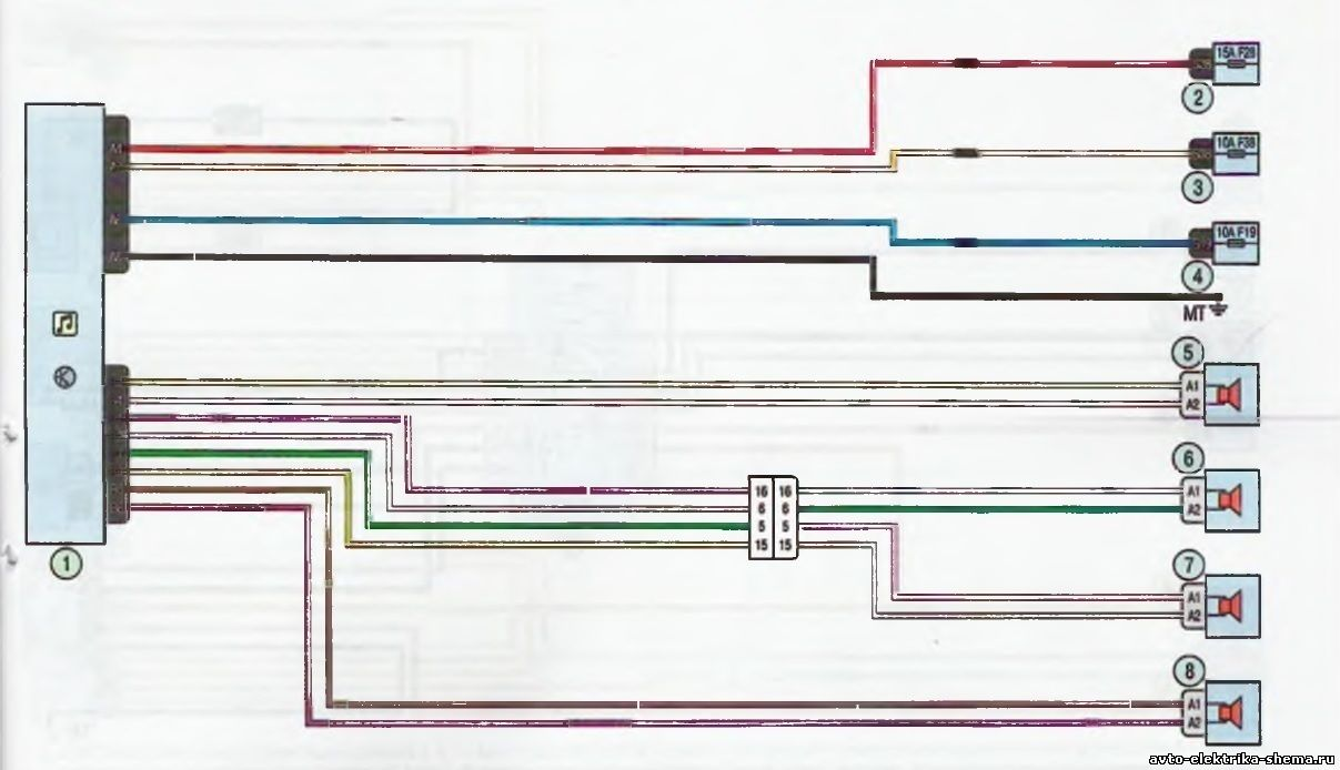 s15 - Схема центрального замка ларгус