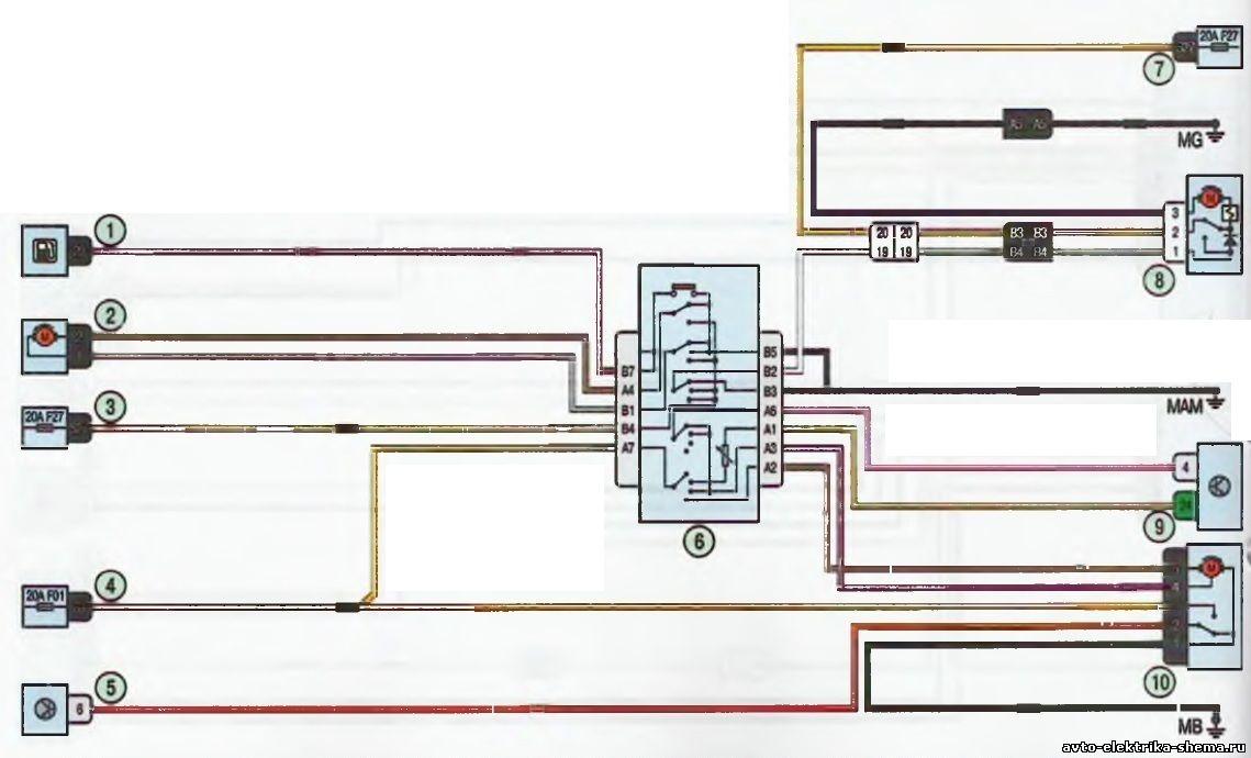 s17 - Схема центрального замка ларгус