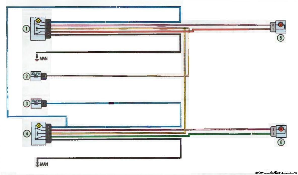 s18 - Схема центрального замка ларгус