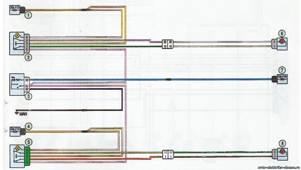 s19 - Схема центрального замка ларгус