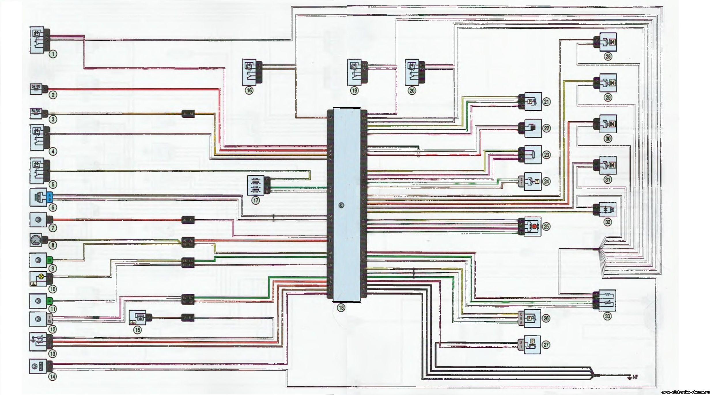 s2 - Схема центрального замка ларгус