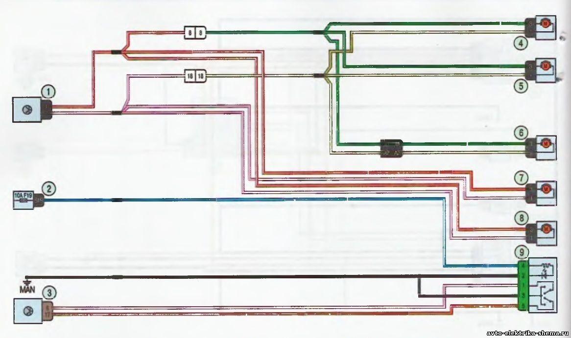 s20 - Схема центрального замка ларгус