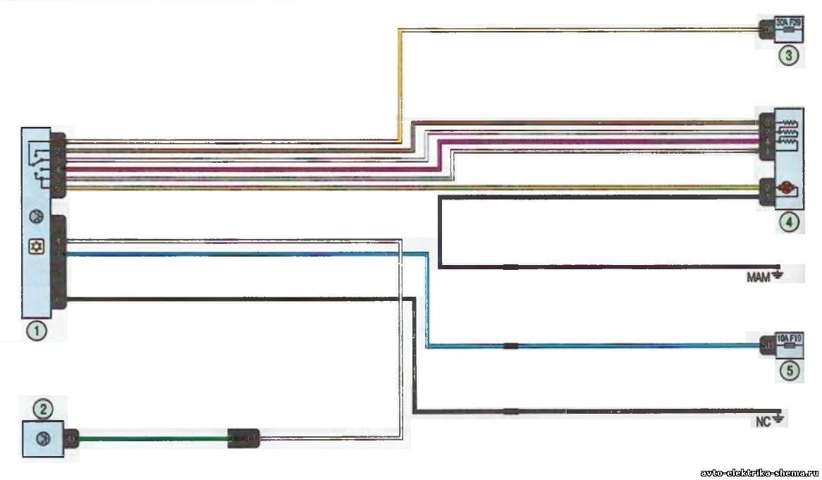 s21 - Схема центрального замка ларгус