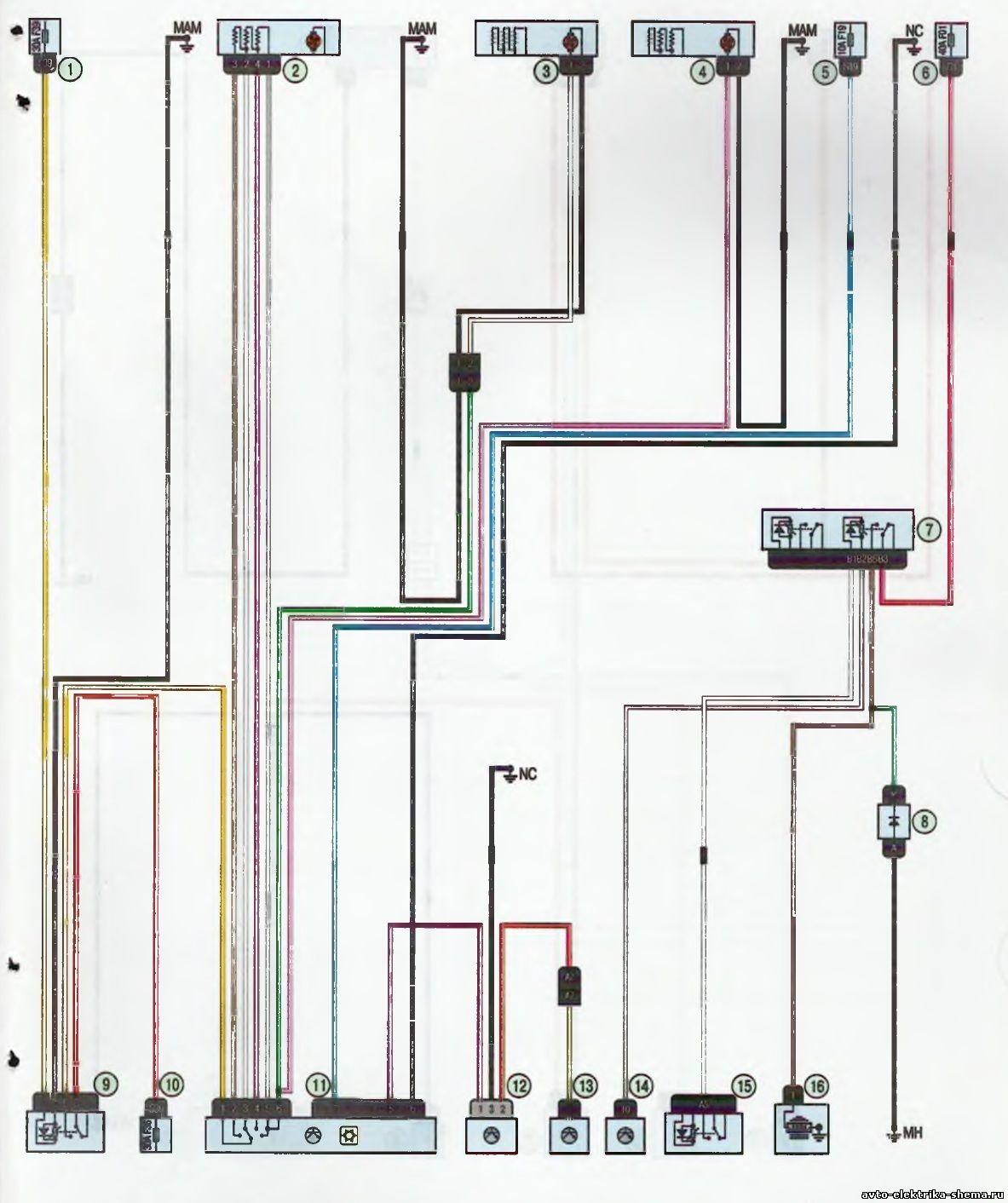 s22 - Схема центрального замка ларгус