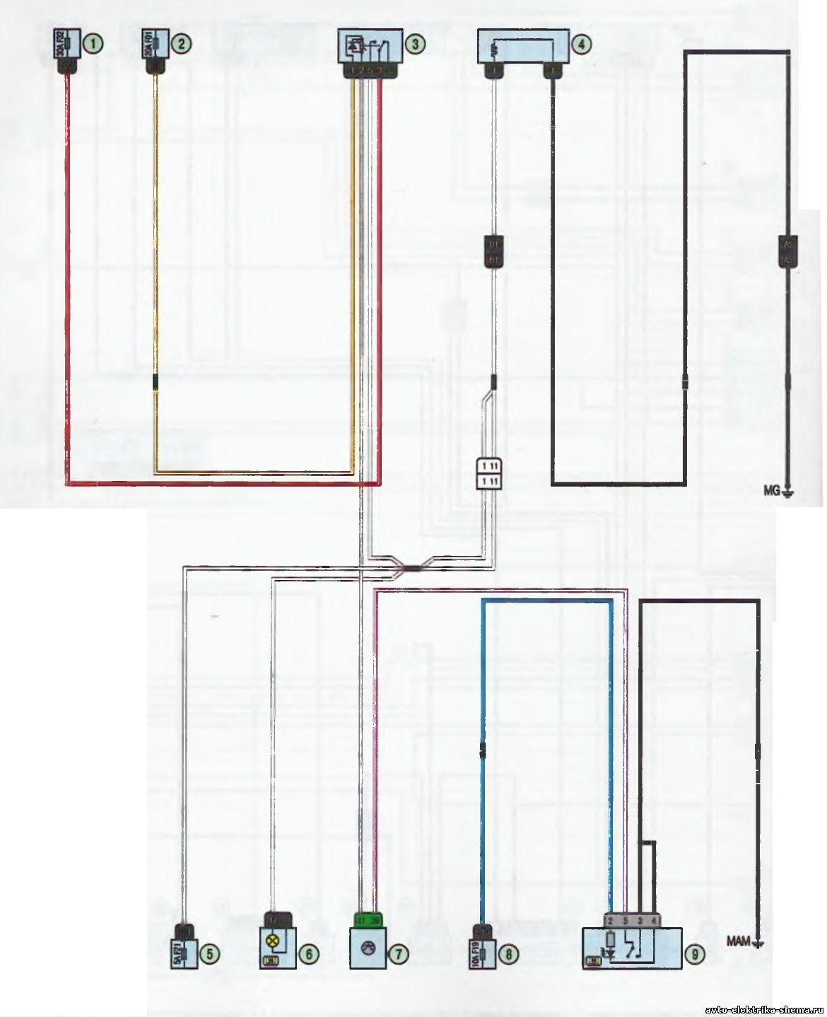 s23 - Схема центрального замка ларгус