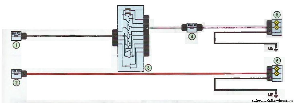 s7 - Схема центрального замка ларгус
