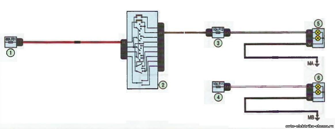 s8 - Схема центрального замка ларгус