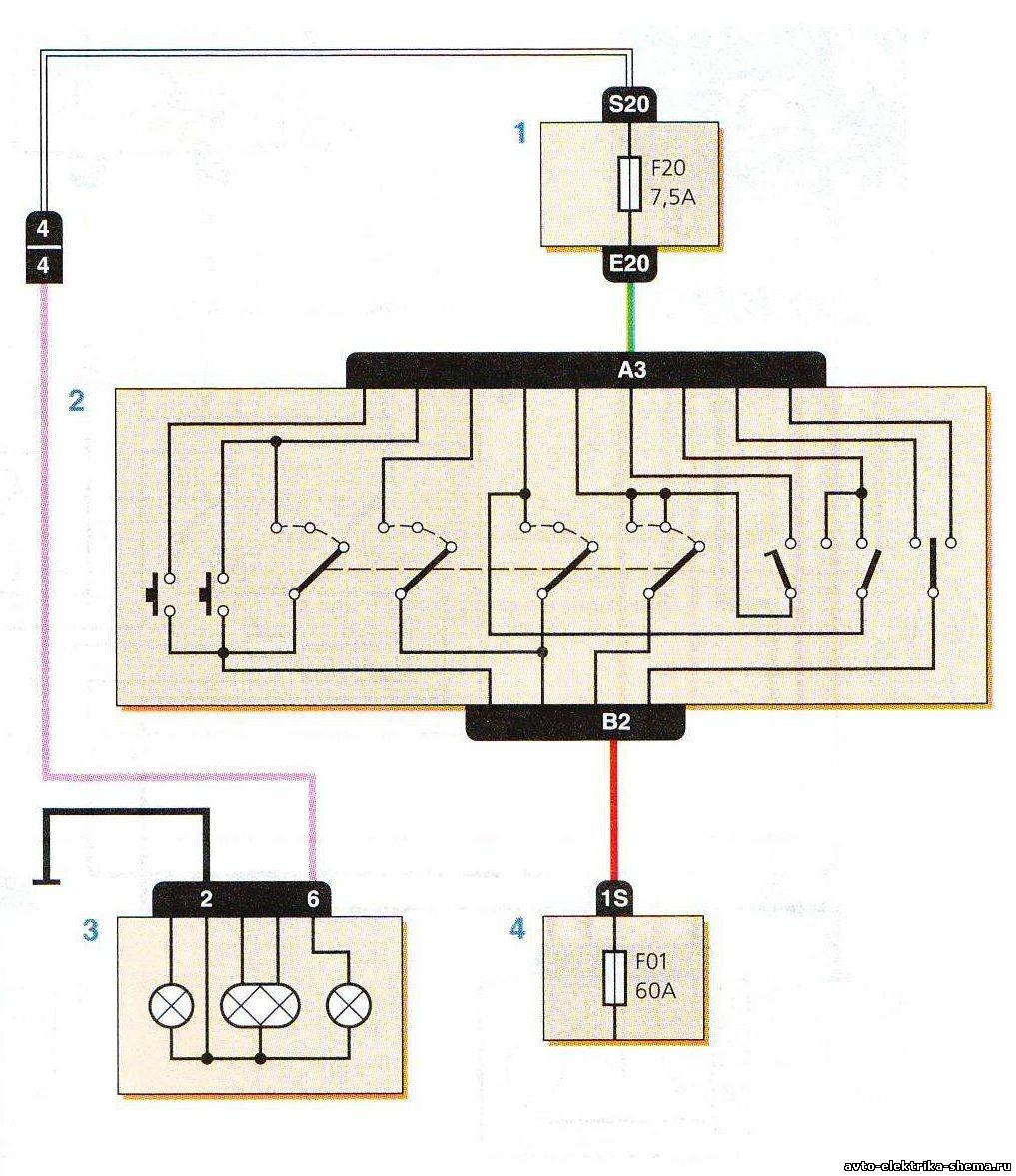 Подключение лампочка фара схема