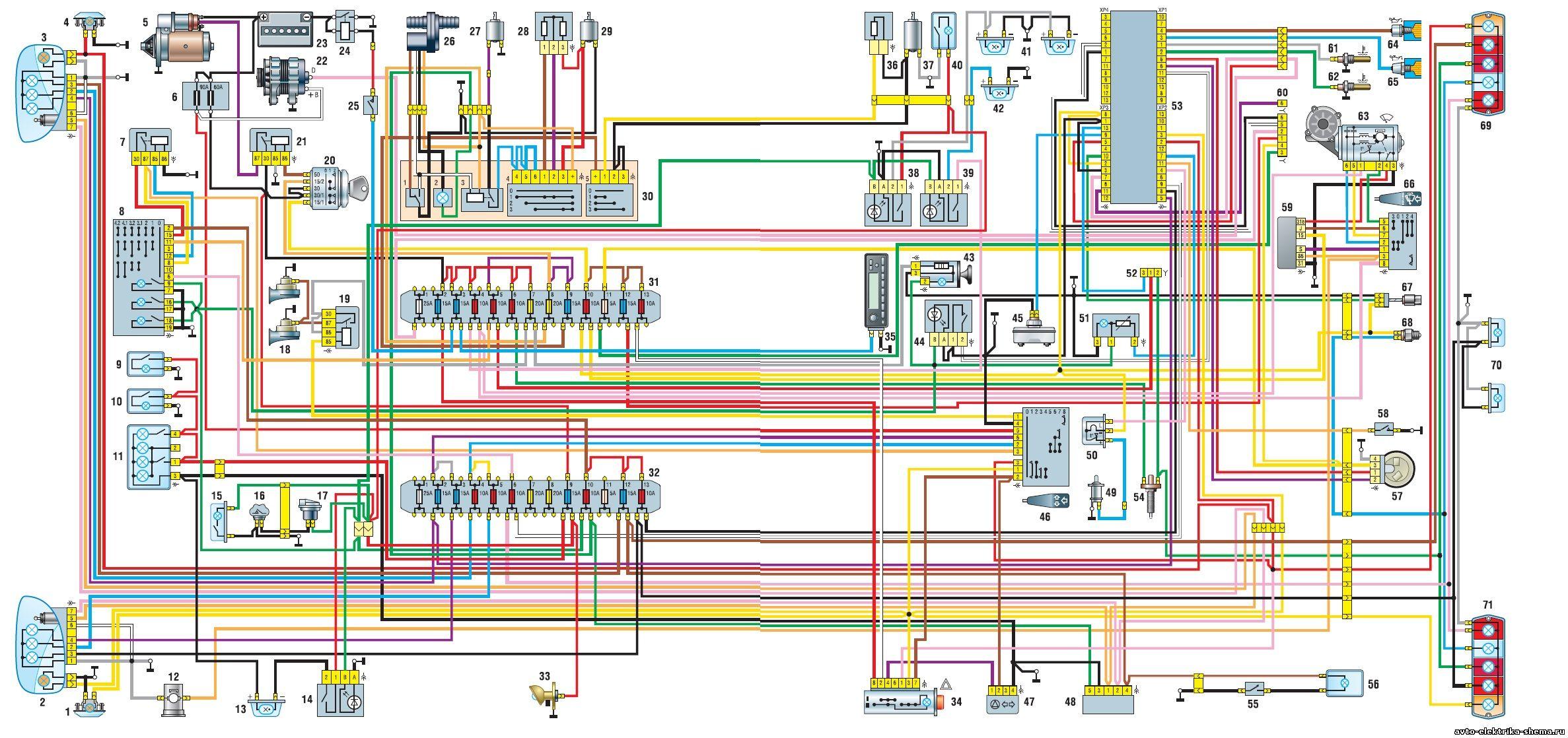 Реле поворотов газель схема подключения