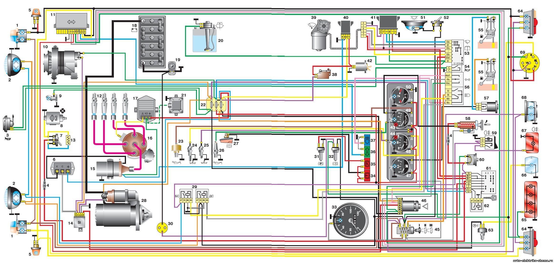 Схема электрооборудования уаз 3151