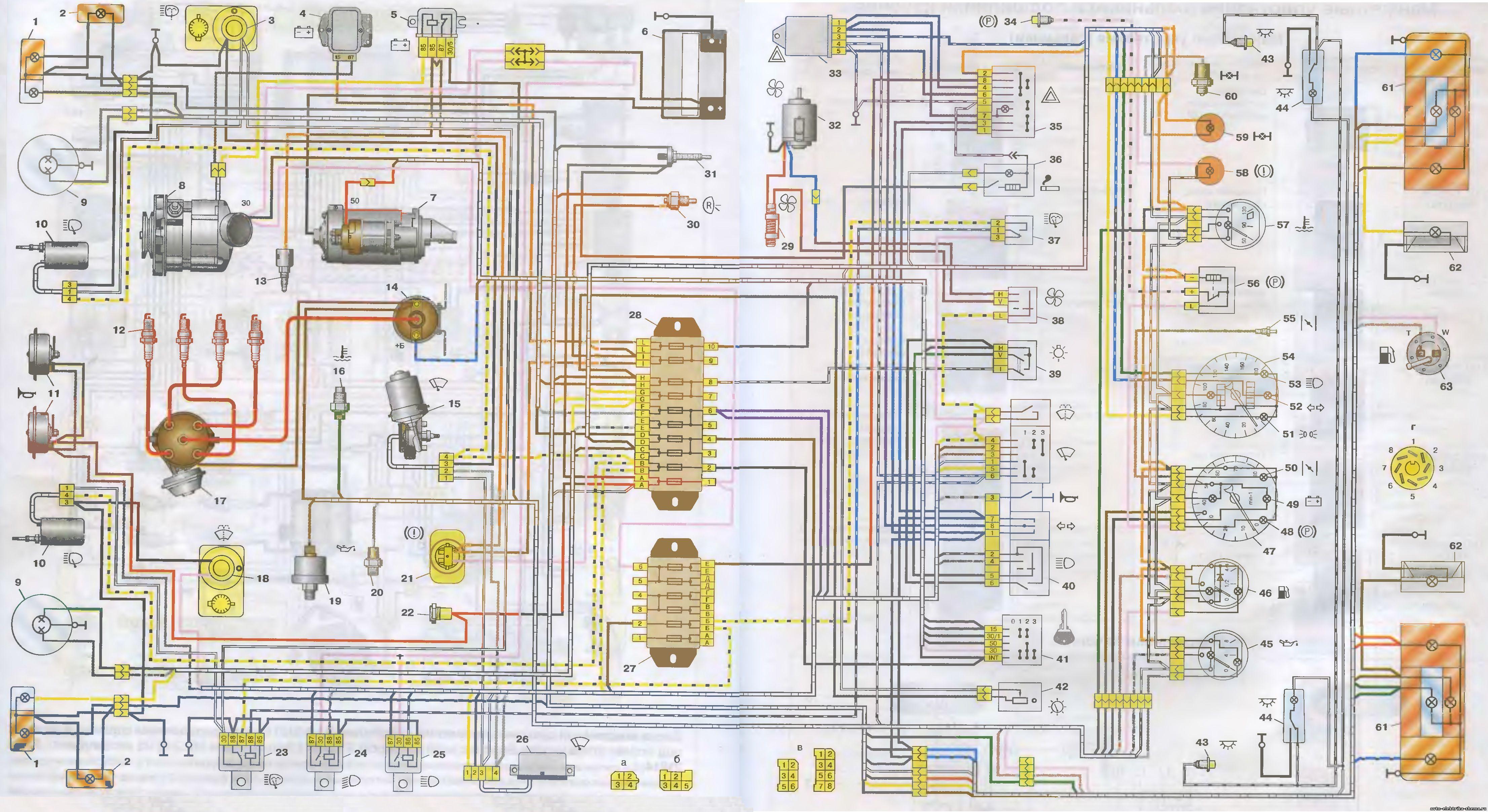 2121 - Схема электрооборудования ваз 2121 нива карбюратор